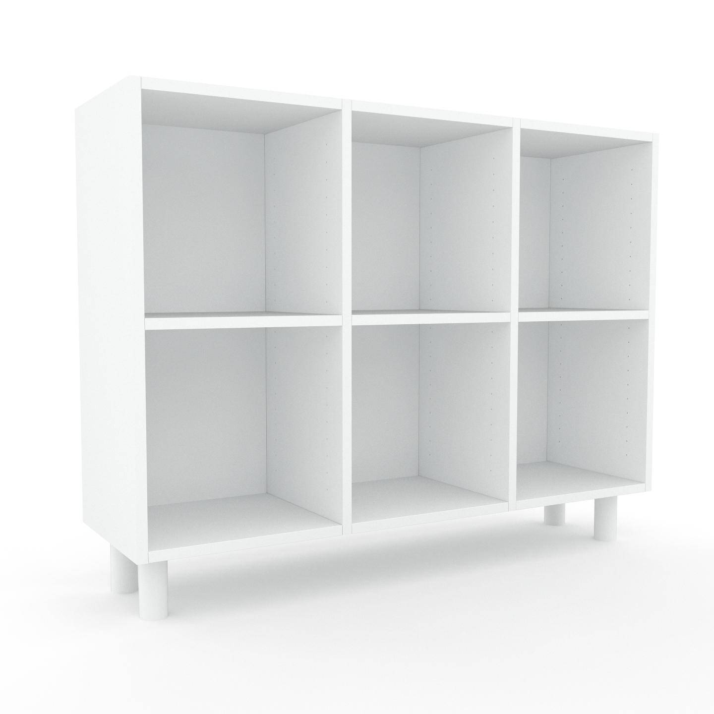 MYCS Range CD - Blanc, design contemporain, meuble pour vinyles, DVD - 118 x 91 x 35 cm, personnalisable