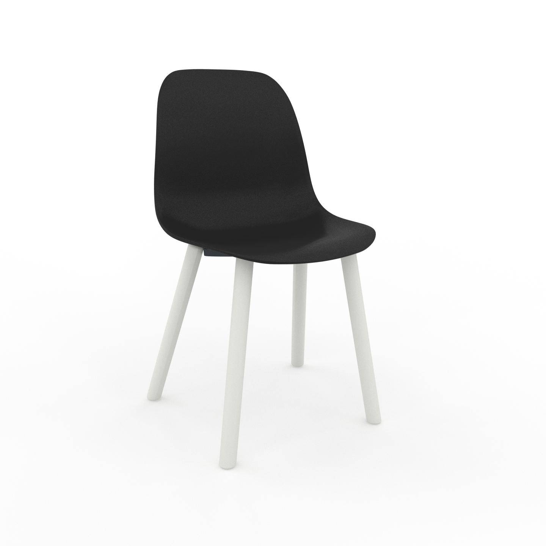 MYCS Chaise de salle à manger noir de 49 x 82 x 43 cm au design unique, configurable