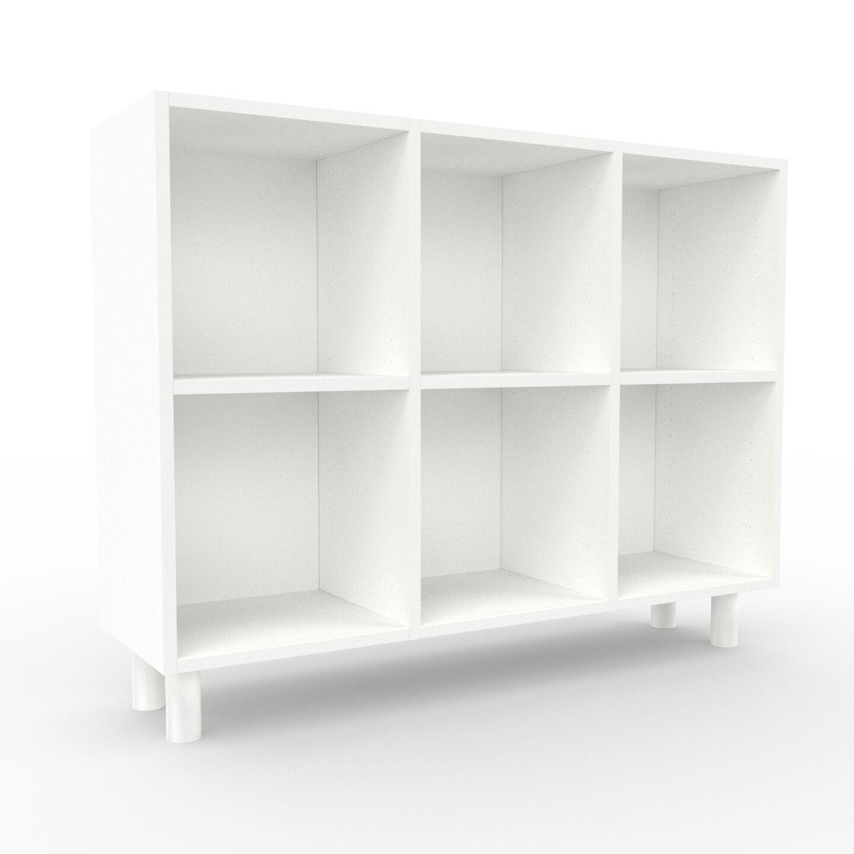 MYCS Range CD - Blanc, design contemporain, meuble pour vinyles, DVD - 118 x 91 x 35 cm, personnalisable