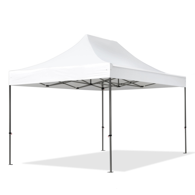 Intent24.fr Tente pliante 3x4,5m Polyester haute qualité 350 g/m² blanc imperméable barnum pliant, tonnelle pliante