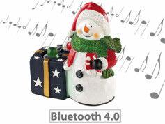 Callstel Décoration de Noël avec haut-parleur Bluetooth - Bonhomme de neige