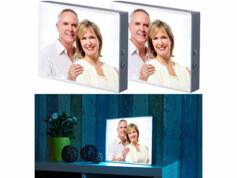 Infactory 2 boîtes d'affichage lumineuses pour films transparents et feuilles A4