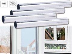 Infactory 4 films de discrétion 40 x 200 cm ''Miroir'' - Protection UV 85%