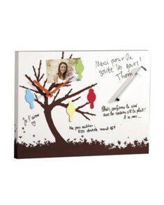 Newave Horloge murale aimantée mémo arbre