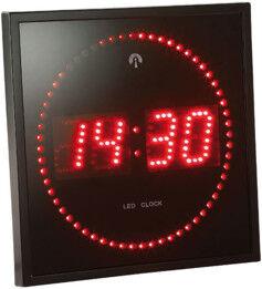Horloge digitale murale avec 60 LED - Radiopilotée - Rouge
