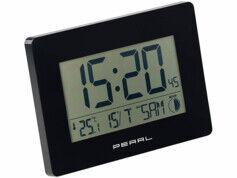 Pearl Horloge radio-pilotée avec température et date - coloris noir