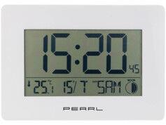 Pearl Horloge radio-pilotée avec température et date - coloris blanc