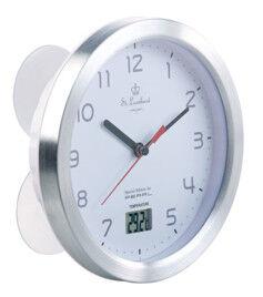 St. Leonhard Horloge étanche Ø 17cm avec thermomètre