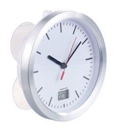 St. Leonhard Horloge radio-pilotée de salle de bains avec thermomètre LCD intégré