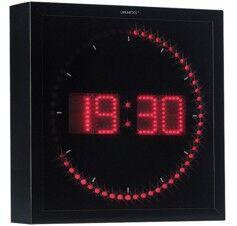 Lunartec Horloge digitale murale avec 60 LED - Rouge