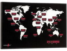 Lunartec Horloge mondiale multifuseaux