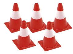 Lescars Pack de 5 cônes de signalisation rouge et blanc - 30 cm