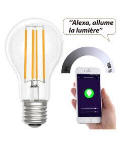 Luminea Home Control Ampoule LED connectée LAV-150.w 7 W compatible commandes vocales- Blanc chaud