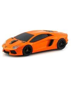 Landmice Souris sans fil voiture Lamborghini Aventador Orange