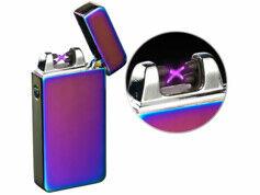 Pearl Briquet électronique USB à double arc électrique - Mauve irisé