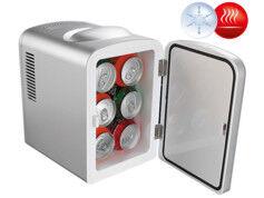 Rosenstein & Söhne Mini réfrigérateur 2 en 1 avec prise 12 / 230 V - Gris