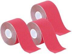 Newgen Medicals Pack de 3 bandes de kinésiologie pour sport (5 m) - Rouge