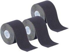 Newgen Medicals Pack de 3 bandes de kinésiologie pour sport (5 m) - Noir