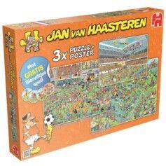 Jumbo Pack de 3 puzzles Jan van Haasteren thème Foot