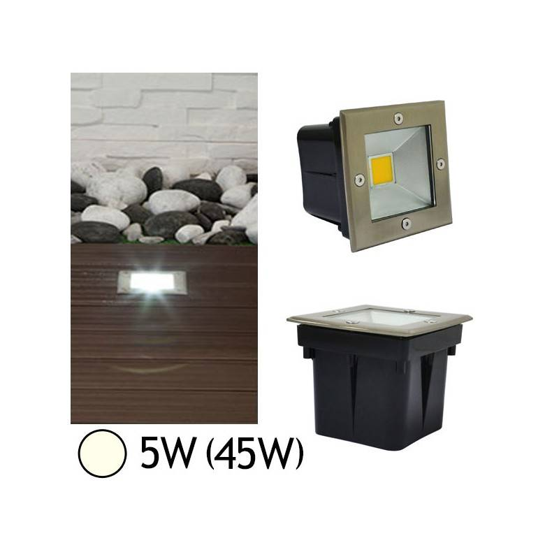 Vision-EL Spot encastré sol LED COB 5W (45W) IP67 Blanc neutre 4000°K