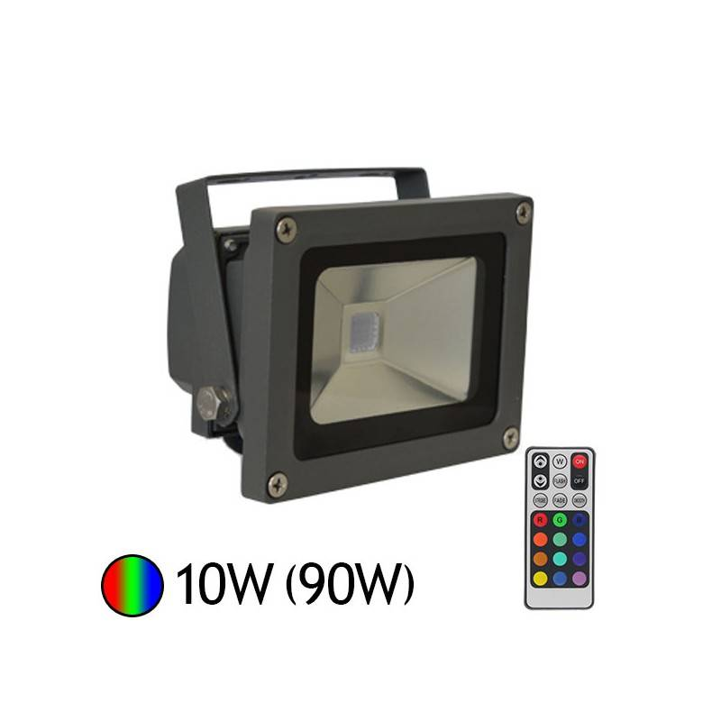 Vision-EL Projecteur Led 16 couleurs 10W (90W) IP65 avec télécommande
