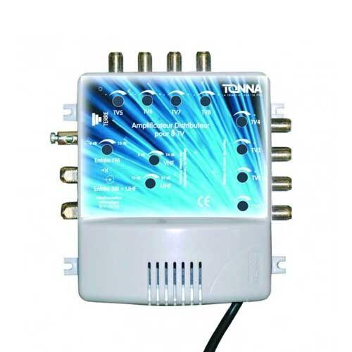 TONNA Amplificateur coupleur 2 entrées 8 sorties - 411128 - Tonna