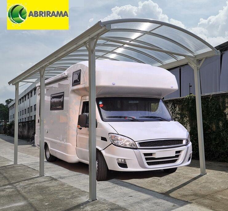 Carport camping car alu Haut. passage 3,17m blanc