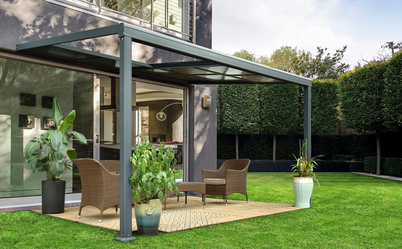Pergola aluminium à toit coulissant 4x3m Luxe