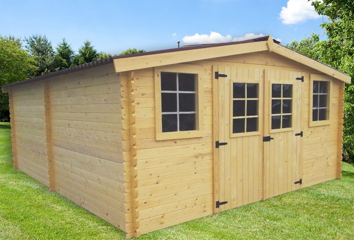 abri jardin bois Bandol 4x5m 20m2 sans plancher