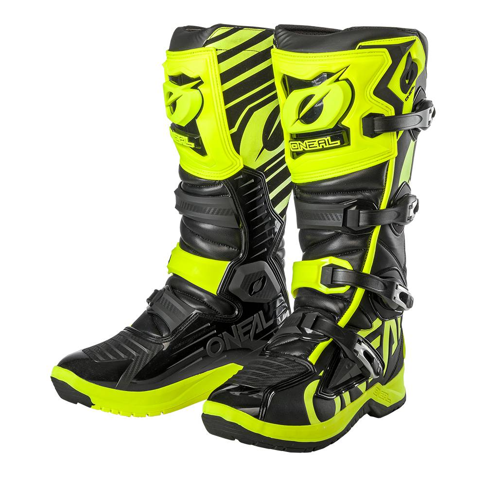 Oneal Bottes cross Oneal RMX noir jaune fluo