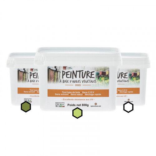 Lubéron Apiculture Pack Estival : 3 pots de peinture (olive, anis, blanc)