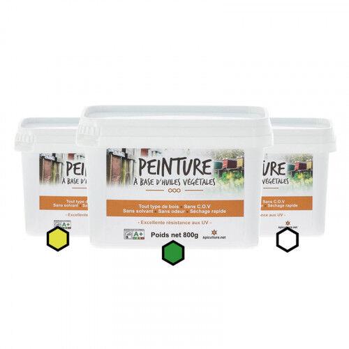 Lubéron Apiculture Pack Acidulé : 3 pots de peinture (citron, vert, blanc)