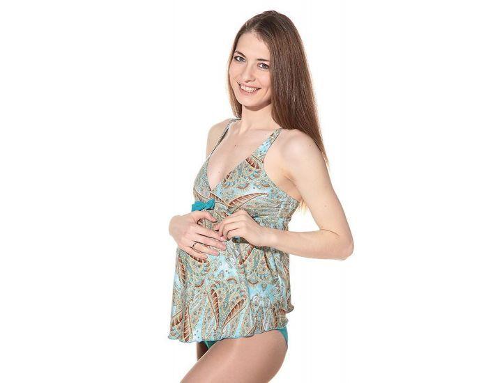 BOGEMA Tankini de grossesse India Bleu turquin XL