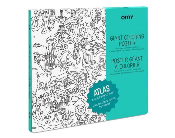 OMY Poster à Colorier - Villes et Pays du Monde Atlas