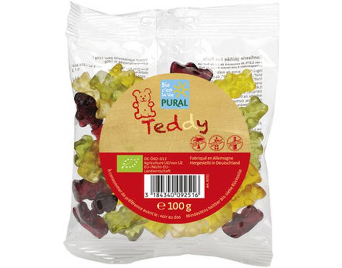 PURAL Bonbons Oursons Teddy - 100 g