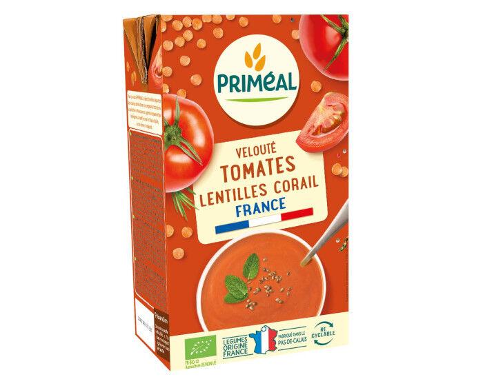 PRIMEAL Velouté Tomates et Lentilles Corail - 1 L