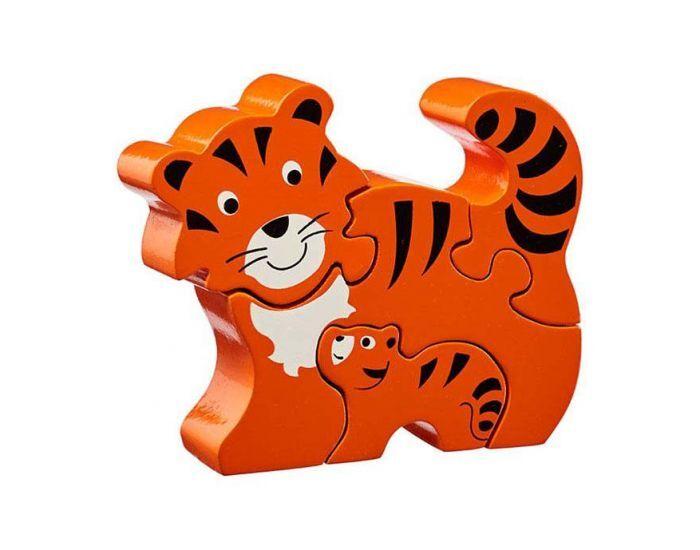 LANKA KADE Puzzle en bois Tigre et son bébé - Dès 10 mois