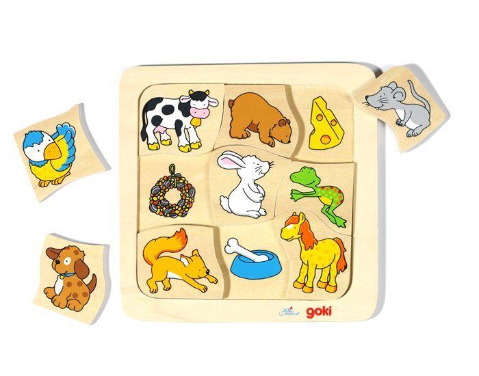GOKI Puzzle Qui mange quoi ? - dès 2 ans