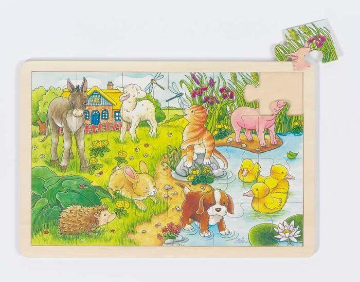 GOKI Puzzle Bébés Animaux - 24 pièces - dès 3 ans