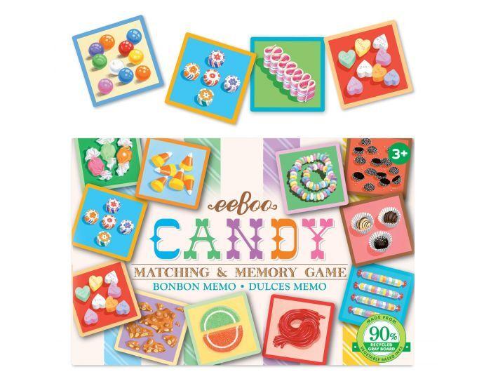 EEBOO Petit Memory - Les Bonbons - Dès 3 ans