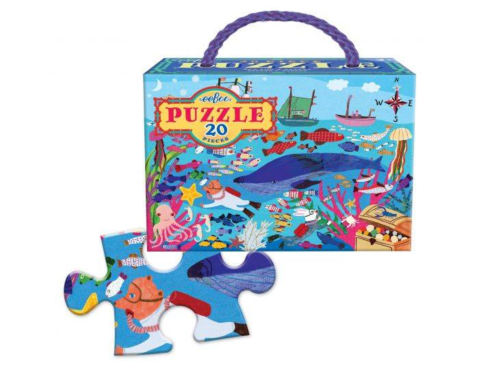 EEBOO Puzzle 20 Pièces - Mer - Dès 3 ans