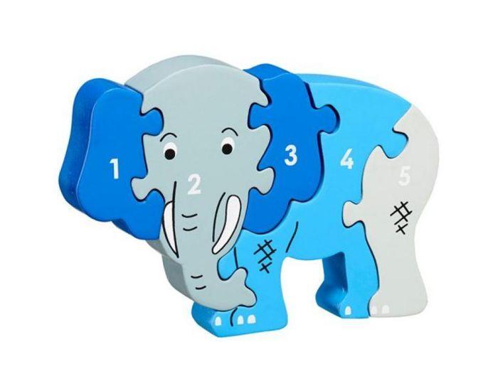 LANKA KADE Puzzle en Bois Eléphant Chiffres 1-5 - Dès 10 mois