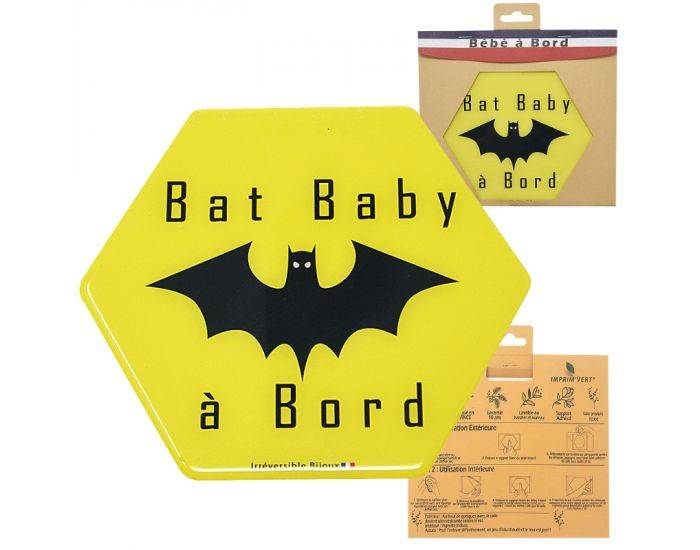 IRREVERSIBLE BIJOUX Adhésif bébé à bord - Bat baby