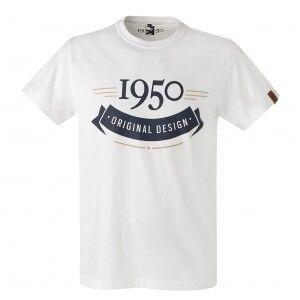 1950 T-Shirt Homme 1950 Blanc  - 2XL OL - Foot Lyon