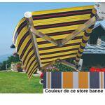 Bouvara Store banne de terrasse 5x3m gris blanc jaune Cestore banne... par LeGuide.com Publicité