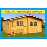 Bouvara Abri de jardin bois 5,20x4,44m + double vitrage  Nancy-Lorraine-Luxe... par LeGuide.com Publicité