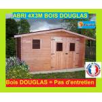 Bouvara abri de jardin en bois Douglas 4x3m  ONTARIO  12m2 Abri de jardin... par LeGuide.com Publicité