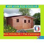 Bouvara abri de jardin en Douglas 4x4m  OREGON  16m2 Abri de jardin en... par LeGuide.com Publicité