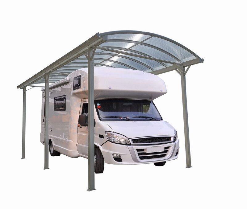 Bouvara Abri camping car blanc 3,60 x 7,62 x H 3,17 m