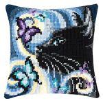 Verachtert Devant de coussin  chat noir  à broder au point de croix Devant... par LeGuide.com Publicité